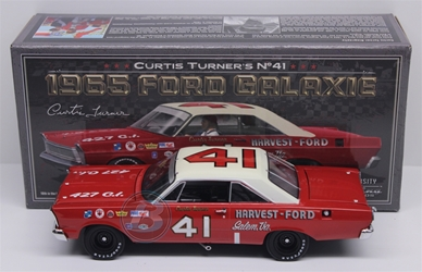 Curtis Turner #41 Harvest-Ford 1965 Ford Galaxie 1:24 University of Racing Nascar Diecast Curtis Turner nascar diecast, diecast collectibles, nascar collectibles, nascar apparel, diecast cars, die-cast, racing collectibles, nascar die cast, lionel nascar, lionel diecast, action diecast, university of racing diecast, nhra diecast, nhra die cast, racing collectibles, historical diecast, nascar hat, nascar jacket, nascar shirt,historical racing die cast
