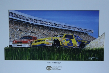 "Dale Earnhardt And Bill Elliott "" The Wild Side "" Original Sam Bass Print 28.5"" X 19"" Dale Earnhardt And Bill Elliot "" The Wild Side "" Original Sam Bass Print 28.5"" X 19"""