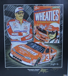 "Dale Earnhardt "" Champions Choice"" in Black Original Artist Proof Sam Bass Print 27"" X 24"" Dale Earnhardt "" Champions Choice In Black "" Original Artist Proof Sam Bass Print 27"" X 24"""