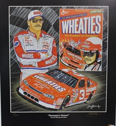 "Dale Earnhardt "" Champions Choice"" in Black Original Numbered Sam Bass Print 27"" X 24"" Dale Earnhardt "" Champions Choice In Black "" Original Numbered Sam Bass Print 27"" X 24"""