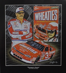 "Dale Earnhardt "" Champions Choice"" in Black Original Sam Bass Print 27"" X 24"" Dale Earnhardt "" Champions Choice In Black "" Original Sam Bass Print 27"" X 24"""