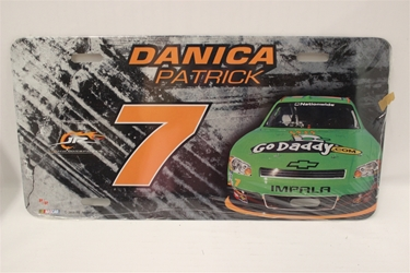 Danica Patrick #7 Go DaddyS Burnout /Green Car License Plate Danica Patrick ,Burnout /Green Car ,License Plate,R and R Imports,R&R