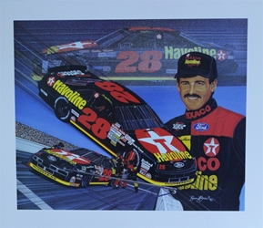 "Davey Allison 1992  ""The Energy To Go Forth"" Original Sam Bass 24"" X 27"" Print Sam Bass, Davey Allison, Monster Energy Cup Series, Winston Cup, Poster"