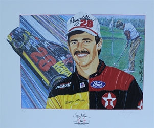 "Davey Allison 1994 Memorial Golf Classic Original Sam Bass 20"" X 24"" Print Sam Bass, Davey Allison, Coca~Cola, Monster Energy Cup Series, Winston Cup, Poster"