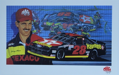 "Davey  Allison Mac Tools Racing Original Sam Bass 17"" X 26"" Print Sam Bass, Davey Allison, Bobby Allison, Monster Energy Cup Series, Winston Cup, Poster"