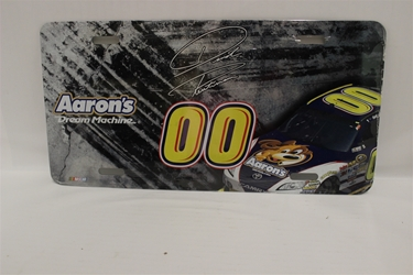 David Reutimann #00 Aaron Dream Machine Burnout/Car License Plate David Reutimann ,Burnout/Car,License Plate,R and R Imports,R&R