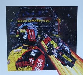 "Ernie Irvan 1994 "" Star Ship 28 "" Original Sam Bass Poster 24.5"" X 27 Ernie Irvan 1994 "" Starship 28 "" Original Sam Bass Poster 24.5"" X 27"
