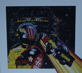 "Ernie Irvan 1994 "" Starship 28 "" Original Artist Proof Sam Bass Print 27"" X 24.5"" Earnie Irvan 1994 "" Starship 28 "" Original Artist Proof Sam Bass Print 27"" X 24.5"""
