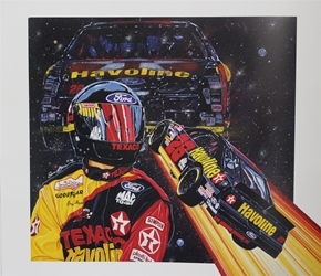 "Ernie Irvan 1994 "" Starship 28 "" Original Sam Bass Print 27"" X 24.5"" Earnie Irvan 1994 "" Starship 28 "" Original Sam Bass Print 27"" X 24.5"""