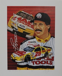 "Ernie Irvan "" Mac Tools Racing "" Original Artist Proof Sam Bass Print 16"" X 21.5"" Earnie Irvan "" Mac Tools Racing "" Original Artist Proof Sam Bass Print 16"" X 21.5"""
