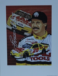 "Ernie Irvan "" Mac Tools Racing "" Original Numbered Sam Bass Print 16"" X 21.5"" Earnie Irvan "" Mac Tools Racing "" Original Numbered Sam Bass Print 16"" X 21.5"""