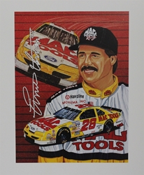 "Ernie Irvan "" Mac Tools Racing "" Original Sam Bass Print 16"" X 21.5"" Earnie Irvan "" Mac Tools Racing "" Original Sam Bass Print 16"" X 21.5"""