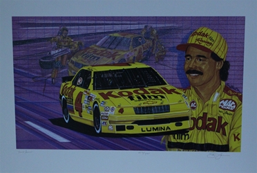 "Ernie Irvan Original Numbered Sam Bass Print 28.5"" X 19.5"" Earnie Irvan Original Numbered Sam Bass Print 28.5"" X 19.5"""
