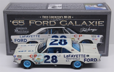 Fred Lorenzen #28 LaFAYETTE Ford 1965 Ford Galaxie 1:24 University of Racing Nascar Fred Lorenzen nascar diecast, diecast collectibles, nascar collectibles, nascar apparel, diecast cars, die-cast, racing collectibles, nascar die cast, lionel nascar, lionel diecast, action diecast, university of racing diecast, nhra diecast, nhra die cast, racing collectibles, historical diecast, nascar hat, nascar jacket, nascar shirt,historical racing die cast