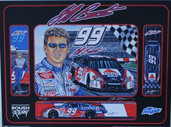 "Jeff Burton "" Kraft Series Racing "" Original Numbered Sam Bass Print 24"" X 18"" Jeff Burton "" Kraft Series Racing "" Original Numbered Sam Bass Print 24"" X 18"""