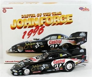 John Force 1996 Driver Of The Year 1:24 NHRA Funny Car John Force 1996 Driver Of The Year 1:24 NHRA Funny Car