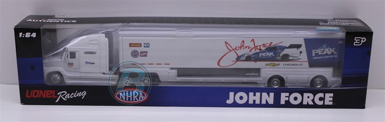 John Force 2018 Peak 1:64 Hauler Nascar Diecast John Force nascar diecast, diecast collectibles, nascar collectibles, nascar apparel, diecast cars, die-cast, racing collectibles, nascar die cast, lionel nascar, lionel diecast, action diecast, university of racing diecast, nhra diecast, nhra die cast, racing collectibles, historical diecast, nascar hat, nascar jacket, nascar shirt