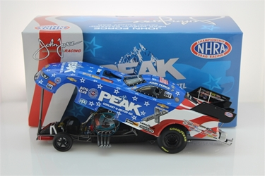 John Force 2018 Peak Patriotic 1:24 Funny Car NHRA Diecast John Force nascar diecast, diecast collectibles, nascar collectibles, nascar apparel, diecast cars, die-cast, racing collectibles, nascar die cast, lionel nascar, lionel diecast, action diecast, university of racing diecast, nhra diecast, nhra die cast, racing collectibles, historical diecast, nascar hat, nascar jacket, nascar shirt