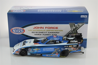 John Force 2019 U.S. Nationals Paint Scheme 1:24 Funny Car NHRA Diecast John Force nascar diecast, diecast collectibles, nascar collectibles, nascar apparel, diecast cars, die-cast, racing collectibles, nascar die cast, lionel nascar, lionel diecast, action diecast, university of racing diecast, nhra diecast, nhra die cast, racing collectibles, historical diecast, nascar hat, nascar jacket, nascar shirt