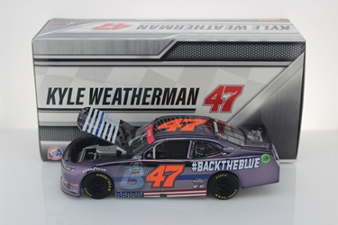 Kyle Weatherman 2020 #BacktheBlue 1:24 Color Chrome Nascar Diecast Kyle Weatherman, Nascar Diecast,2020 Nascar Diecast,1:24 Scale Diecast, pre order diecast