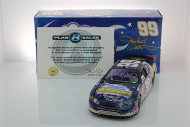 Michael Waltrip Autographed w/ Paint Pen #99 2005 Aarons Dream Machine 1:24 Nascar Diecast Michael Waltrip nascar diecast, diecast collectibles, nascar collectibles, nascar apparel, diecast cars, die-cast, racing collectibles, nascar die cast, lionel nascar, lionel diecast, action diecast, university of racing diecast, nhra diecast, nhra die cast, racing collectibles, historical diecast, nascar hat, nascar jacket, nascar shirt