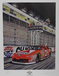 "Michael Waltrip "" The Winston Select 1996"" Numbered Garry Hill Print W/COA 27"" x 21"" Michael Waltrip "" The Winston Select 1996"" Numbered Garry Hill Print W/COA"