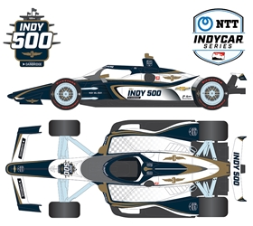 *Preorder* 105th Running of the Indianapolis 500 Event Car 1:64 2021 NTT IndyCar Series 105th Indy 500 Event Car,1:64,diecast,greenlight,indy