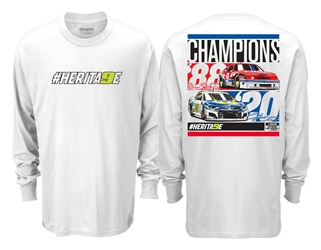 Chase Elliott & Bill Elliott Champions #HERITA9E 2-Spot Long Sleeve Tee shirt, nascar playoffs