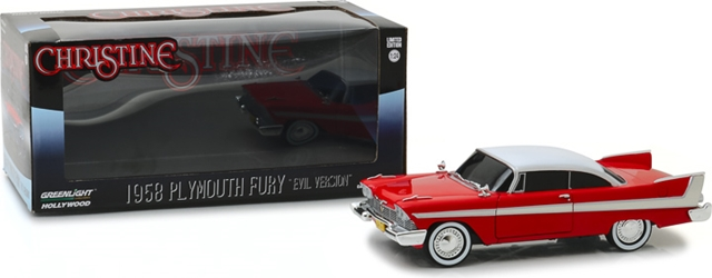 Christine (1983) 1:24 - 1958 Plymouth Fury (Evil Version with Blacked Out Windows) Christine, Movie Diecast, 1:24 Scale, 1958 Plymouth Fury
