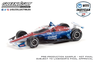 *Preorder* Graham Rahal / Rahal, Letterman, Lanigan Racing #15 United 1:64 2021 NTT IndyCar Series Graham Rahal,1:64,diecast,greenlight,indy