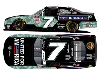 *Preorder* Justin Allgaier 2021 United for America / Camp4Heroes 1:24 Color Chrome Nascar Diecast Justin Allgaier, Nascar Diecast,2021 Nascar Diecast,1:24 Scale Diecast, pre order diecast