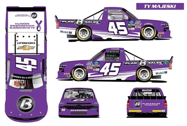 *Preorder* Ty Majeski Autographed 2020 Plan B Sales / Alzheimers Awareness Month 1:24 Color Chrome Nascar Diecast Ty Majeski diecast, 2020 nascar diecast, pre order diecast