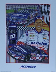 "Ron Hornaday "" ACDelco Racing "" Original Numbered Sam Bass Print 18"" X 24"" Ron Hornaday "" ACDelco Racing "" Original Numbered Sam Bass Print 18"" X 24"""
