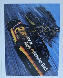 "Rusty Wallace "" 2 Fast "" Original Sam Bass Print 18.5 X 23.5 Rusty Wallace "" 2 Fast "" Original Sam Bass Print 18.5 X 23.5"