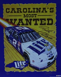 "Rusty Wallace "" Carolinas Most Wanted "" Original Numbered Sam Bass Print 18"" X 22.5"" Rusty Wallace "" Carolinas Most Wanted "" Original Numbered Sam Bass Print 18"" X 22.5"""