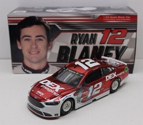 Ryan Blaney 2018 DEX Imaging 1:24 Color Chrome Nascar Diecast Ryan Blaney Nascar Diecast,2018 Nascar Diecast,1:24 Scale Diecast, pre order diecast