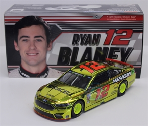 Ryan Blaney 2018 Duracell / Menards 1:24 Color Chrome Nascar Diecast Ryan Blaney Nascar Diecast,2018 Nascar Diecast,1:24 Scale Diecast, pre order diecast