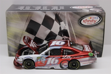 Ryan Reed 2017 Daytona Win Lilly Diabetes 1:24 Color Chrome Nascar Diecast Ryan Reed diecast, 2017 nascar diecast, pre order diecast