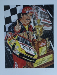 "Terry Labonte 1996 Winston Cup Champion "" Silver And Gold "" Original Sam Bass Artist Proof Print 27"" X 21"" Terry Labonte 1996 Winston Cup Champion "" Silver And Gold "" Original Sam Bass Artist Proof Print 27"" X 21"""
