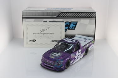 Ty Majeski Autographed 2020 Plan B Sales / Alzheimers Awareness Month 1:24 Color Chrome Nascar Diecast Ty Majeski diecast, 2020 nascar diecast, pre order diecast